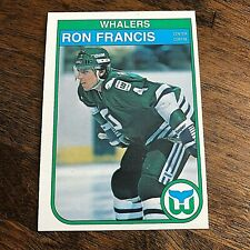 1982-83 O-Pee-Chee #123 RON FRANCIS Rookie   RC  harford whalers