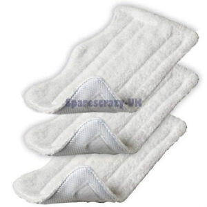 Replacement Shark XT Micro Fibre Steam Mop Cleaning Pads Washable Pack of 3