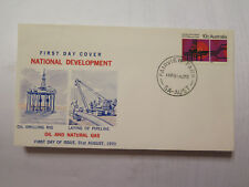 FIRST DAY COVER NATIONAL DEVELOPMENT OIL & NATURAL GAS 1970 10 Cent STAMP