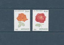 - Monaco   fleurs roses  1992  num:  1839/40   **