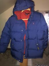 Ralph Lauren Big Boys Down Puffer Coat. Large, Navy Clean & Barely Worn
