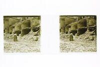 Italia Messina Terremoto 1908 Foto Placca P45L5n6 Lente Positivo Stereo