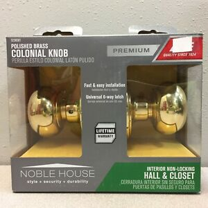 Colonial Polished Brass Steel Passage Door Knob 3 3944VB