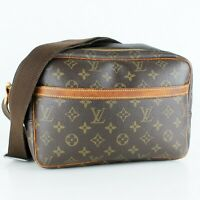 LOUIS VUITTON REPORTER PM Crossbody Shoulder Bag Purse Monogram M45254 Brown