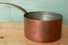 Antique Copper Cooking Pot Saucepan with Hand Forged LONG DOVETAIL Handle 1800's