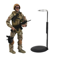 12inch Military Combat Adventure Action Figure Model with Display Stand Rack