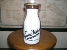 Very Nice Spring Valley Dairy Co Illinois Black Pyroglaze 1/2 Pt. Milk Bottle!