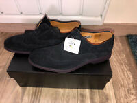 chaussures chic daim bleu PAUL SMITH oceano suede pointure 40 UK 6 NEUVES