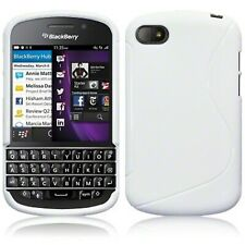 Silicone Slim S Curve TPU Gel Back Case Cover Solid White for Blackberry Q10