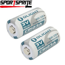 2pcs Olight CR123A 1600mAh 3.0V Lithium Battery Cell for Flashlight Torch Camera
