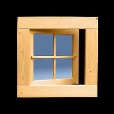 Holzfenster Sprossenfenster Gartenhausfenster 63 x 63 cm Drehfenster ++NEU++