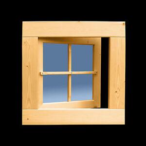 Holzfenster  59 x 59 cm Drehfenster Sprossenfenster Gartenhausfenster ++NEU++