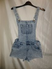 Miss E-Vie Girls 100% Cotton Short Jeans Pinafore Size 14 Years