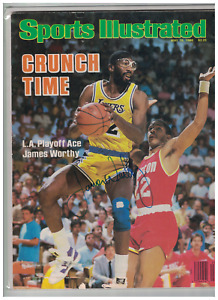 James Worthy Los Angeles Lakers Basketball Signed Sports Illustrated Cover W/COA