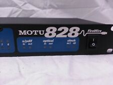 Motu 828 Firewire Audio Interface - 8 Channels - Mac or PC - New + Accessories