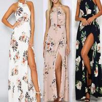 Womens Maxi Boho Floral Dress Beach Long Skirt Evening Cocktail Party Dress
