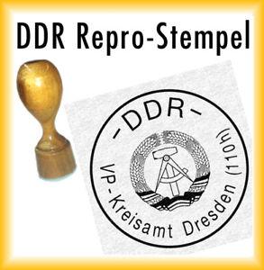 DDR Siegel - DDR Stempel - Volkspolizei Kreisamt Dresden - Repro + Stempelkissen