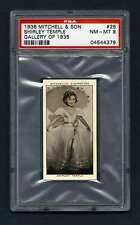 PSA 8 SHIRLEY TEMPLE 1936 CIGARETTE CARD BEAUTIFUL