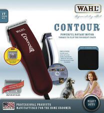 New Wahl MADE IN USA Dog Hair Pet Contour Clipper+Chrome Trimmer grooming kit