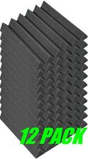 "2"" x 12"" x 12"" Charcoal Acoustic Wedge Studio Foam 12 Pack"
