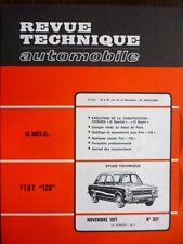 RTA revue technique 307 FIAT 128 CITROEN DS