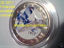 2 euro 2011 FINLANDIA fdc smaltato colorato Finlande Suomi Finland Finnland 200