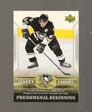 Sidney Crosby Rookie Upper deck 2006 Phenomenal Beginings Card #20