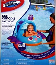 SwimWays Sun Canopy Baby Boat 50+ UPF UV Swim Step 1 Water Intro 9-24 Mos. New