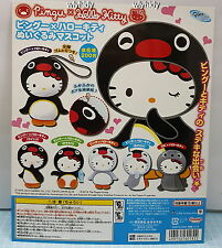 Pingu x Hello Kitty  Plush Doll Keyring   #6ok