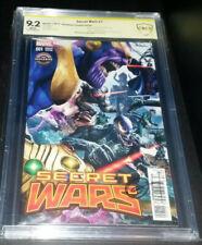 Secret Wars #1 9.2 CBCS Marvel 2017 Gamestop Variant SIGNED GREG HORN