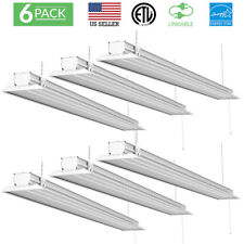 SUNCO 6 PACK FLAT SHOP LIGHT CLR UTILITY LED 40W 300W 4500 LUMEN 5000K DAYLIGHT
