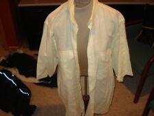 MEN'S BOSTON TRADERS L LARGE DRESS SHIRT SS SHORT SLEEVE YELLOW