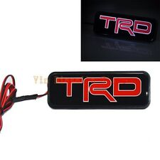 JDM TRD LED Light Luminous Emblem Front Grille Badge For Toyota Camry Corolla