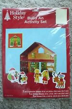 New Christmas Holiday Activity Set/Kit-Arts/Crafts for ages 2+, Santa's Workshop