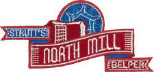 """Belper North Mill Embroidered Patch 9m x 4.5cm (3 1/2"""" x 1 3/4"""")"""