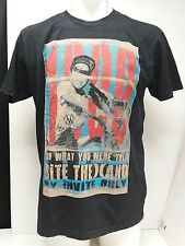 HURLY SHORT SLEEVE TSHIRT BITE THE HAND GRAPHIC L Dog BITING premium fit Dyed