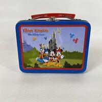 Walt Disney World Magic Kingdom Tin Mini Lunch Pail Mickey And Friends Retired