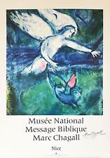 Marc Chagall Poster Musee National Message Biblique