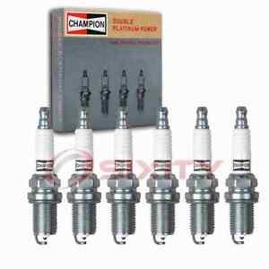 6 pc Champion Double Platinum Spark Plugs for 1985-2001 Nissan Maxima 3.0L om