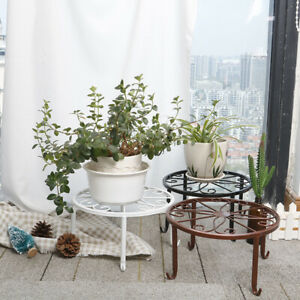 Potted Stander Home Decor Classic Style Plant Balcony Round Garden Storage Ra.ji