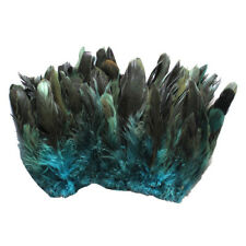 "20g(0.7oz) 4-6"" half bronze teal schlappen coque rooster feathers ~200pc"