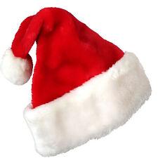 Christmas Party Soft Velvet Santa Claus Hat Xmas Red Cap For Santa Claus Costume