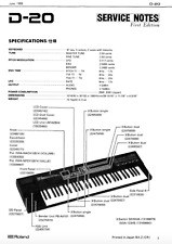 ROLAND D-20, D-70 Schematic Diagram Service Manual Schaltplan Techniques