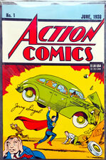 ACTION COMICS #1 JERRY SIEGEL SIGNED REPRINT (1993) • DYNAMIC FORCES CERTIFIED