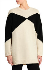 VALENTINO Women's Intarsia Oversized Wool Sweater Jumper Size S Small