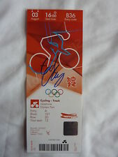 Official London 2012 Ed Clancy Signed Track Cycling Ticket Ltd Edition 17 of 25