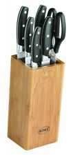 RÖSLE Germany Knife Set Bamboo Block Housewarming Host Hostess Wedding Gift Box