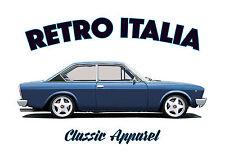 FIAT 124 COUPE t-shirt. RETRO ITALIA. CLASSIC CAR. 124C. ITALY.