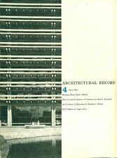 Architectural Record. April 1961. Vol. 129. No 4. Contents: Special schools