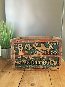 ANTIQUE KYNOCH LIMITED BONAX SHOTGUN CARTRIDGES WOODEN DISPLAY DELIVERY CRATE